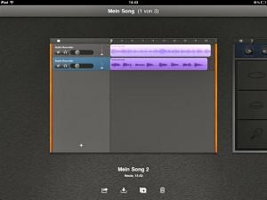 Das fertige Musikstück landet per Fingertipp entweder in iTunes (via Synchronisierung) oder im Mail-Eingang