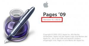 Endlich befindet sich Pages 4.1 auf meinem Macbook Air
