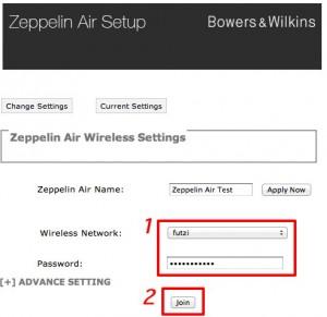 Via Safari und Bonjour gelingt das Einbinden des Zeppelin Air in das eigene WLAN recht einfach