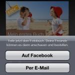 Neu in der clixxie-fotobuch-App 1.1: Teilen Sie Ihre Fotobücher via Facebook und E-Mail