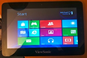Läuft: Windows 8 auf dem ViewPad 10pro von Viewsonic, den ich leihweise zur Verfügung gestellt bekommen habe