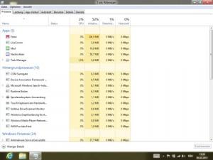 Der Taskmanager von Windows 8 zeigt es an: inaktive Programme beanspruchen keine Rechenzeit, nur den RAM für die Daten