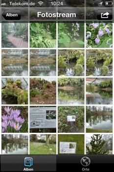 ... direkt via iPhone - dank der Fotostream-Funktion und iCloud stehen die Bilder auf allen Geräten für die clixxie-fotobuch-App zur Verfügung