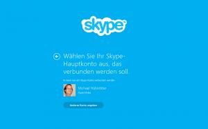 Erste Überraschung: die Skype-8-App kannte automatisch meinen Login-Namen (das Kennwort zum Glück nicht)