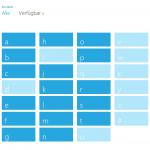 Sematischen Zoom unterstützt die App auch, der per Pinch-Geste ausgelöst wird