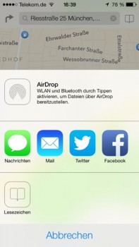 iOS 7 - deutlich verbesserte Karten-App mit SM-Integration