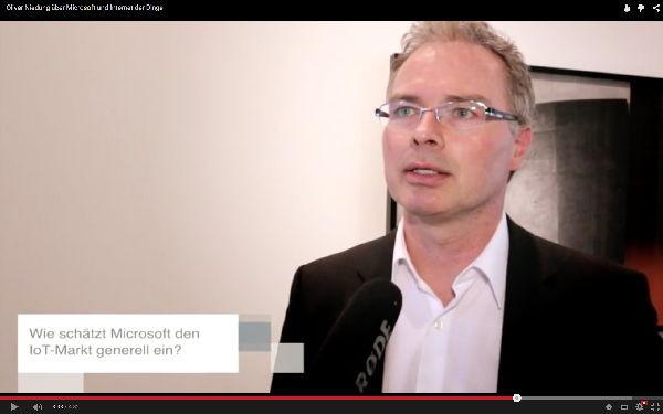 Oliver Niedung über Microsoft und das Internet der Dinge