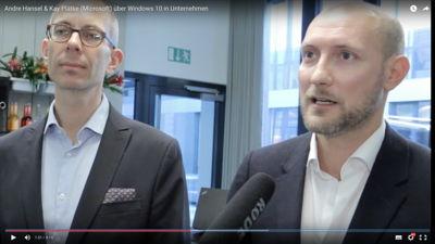 Andre Hansel und Kay Plätke von Microsoft zu Windows 10 und Lumia in Unternehmen