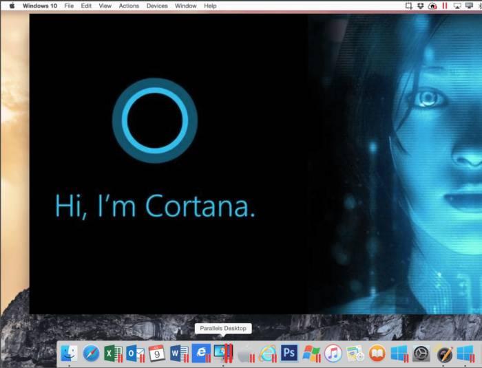 Cortana auf dem Mac mithilfe von Parallels Desktop für Mac Business Edition