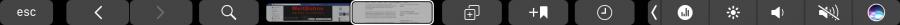 Touchbar-Integration in Safari