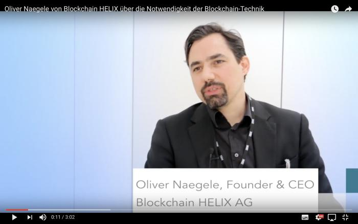 Oliver Naegele, Blockchain HELIX AG
