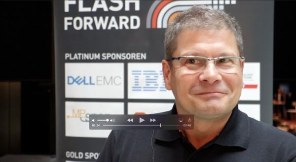 Alexander Best von DataCore im Videointerview auf der Flash Forward München 2017