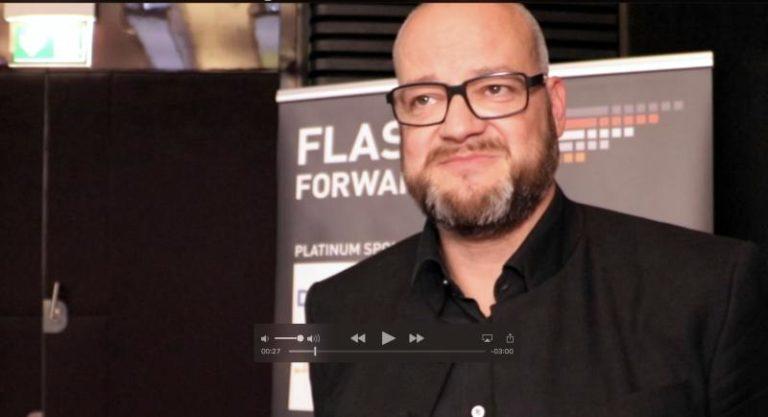 André Braun von Dell EMC auf der Flash Forward 2107 im Videointerview