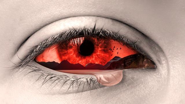 Träne im Auge