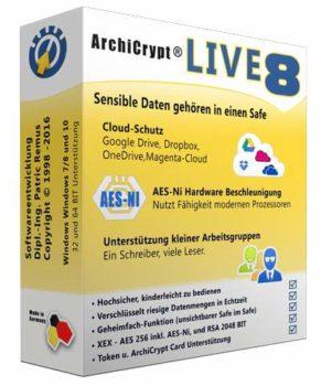 Mit ArchiCrypt Live lassen sich virtuelle Laufwerke verschlüsseln