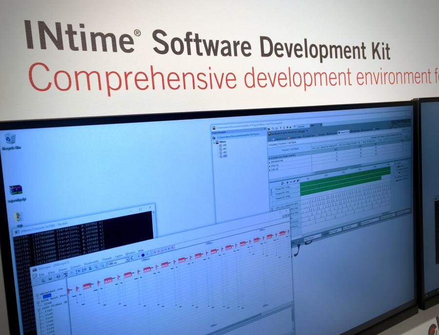 TenAsys auf der Embedded World 2018 - Mit dem INtime Software Development Kit steht die bekannte Visual Studio-nahe Entwicklungsumgebung für Real-Time-App-Programmierung zur Verfügung