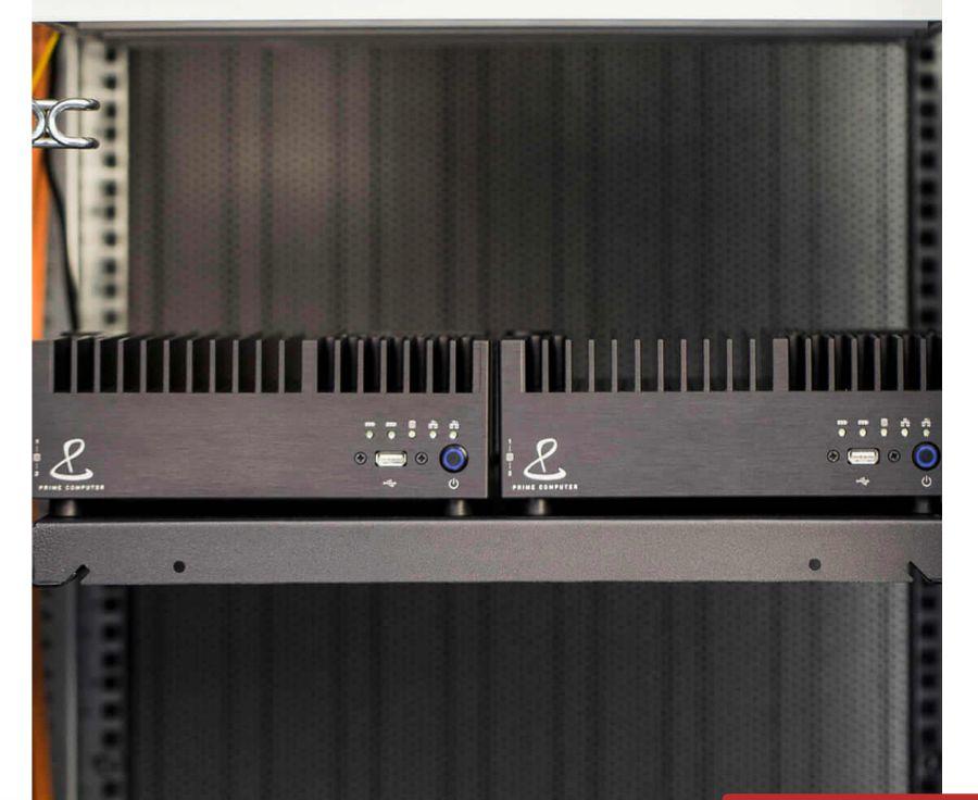 PrimeServer - eingebaut als Duo im 19-Zoll-Rack