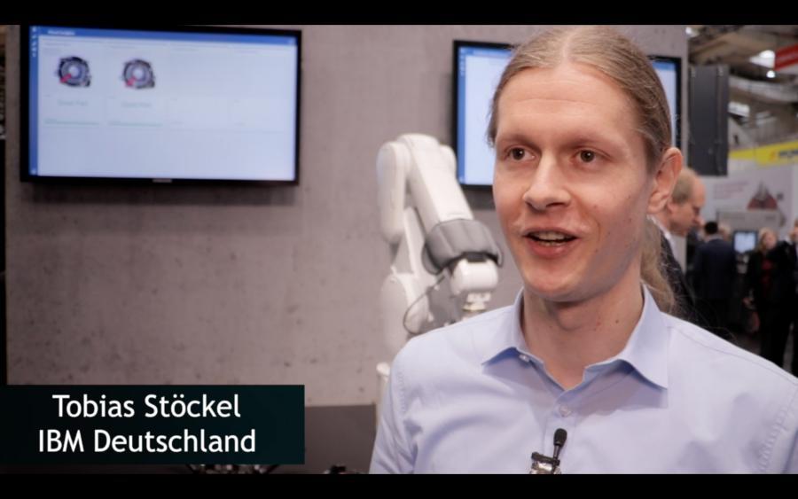 Tobias Stöckel auf der Hannover-Messe über Predictive Maintenance