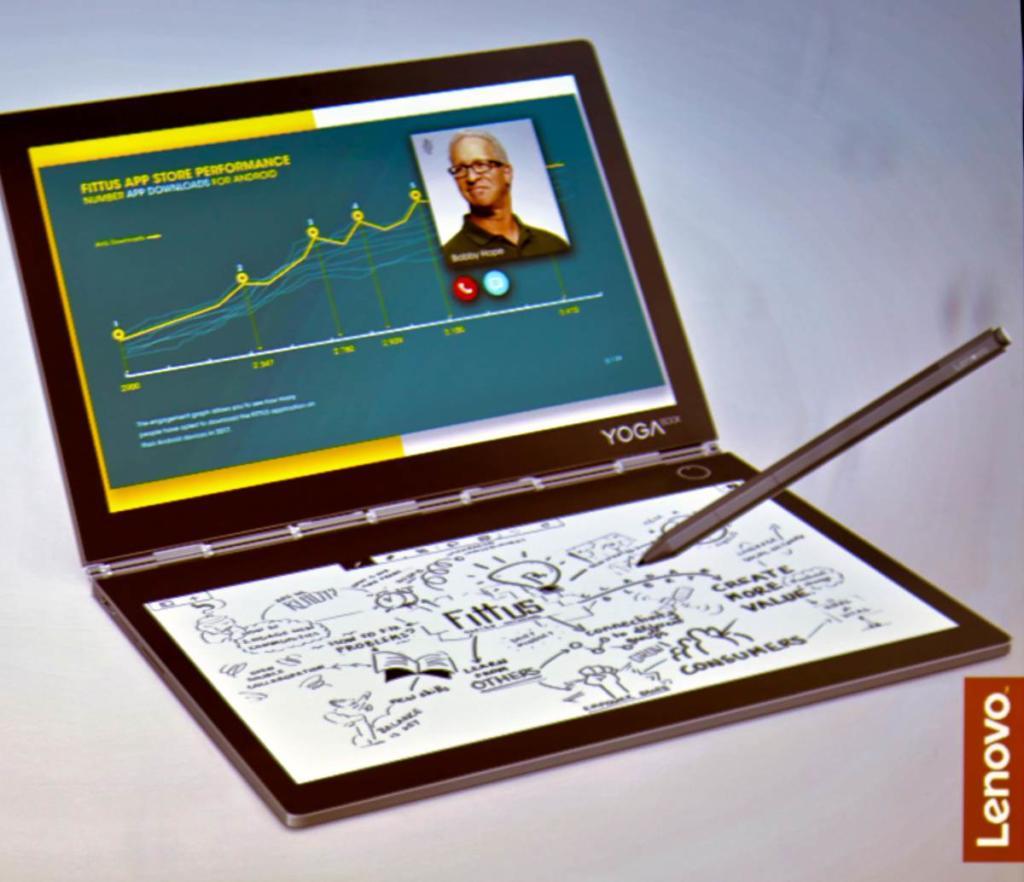 Mit dem Lenovo Yoga Book C930 werden aus Ideen Pläne und aus Plänen Konzepte