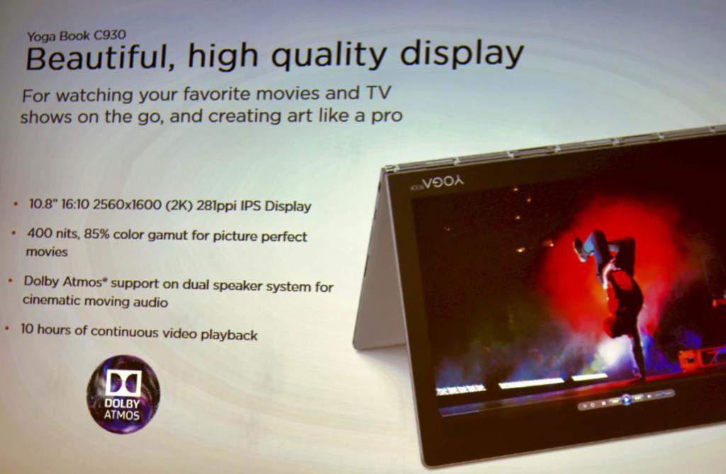 Volle Auflösung, volle Helligkeit, volle Dröhnung und volle Ladung - das ist das Lenovo Yoga Book C930