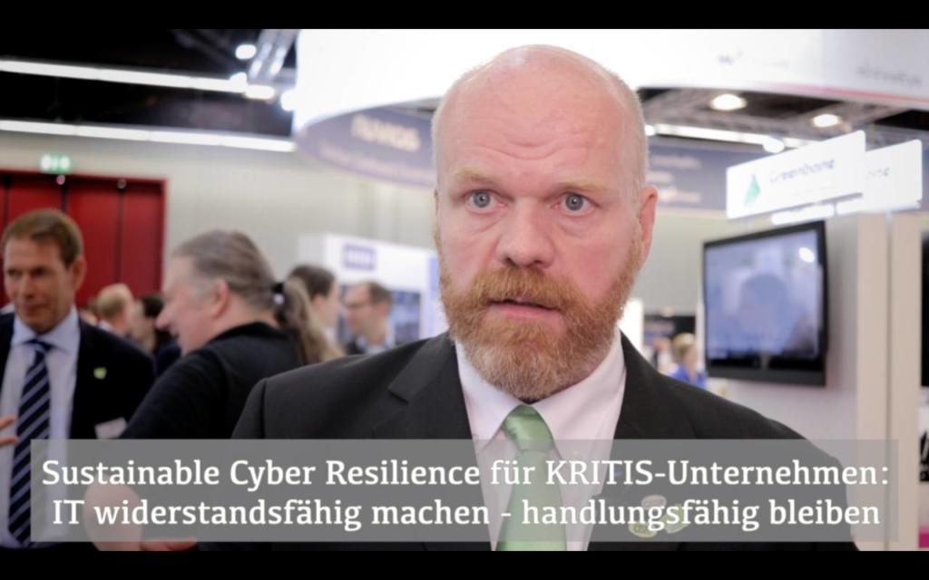 Dirk Schrader von Greenbone über Sustainable Cyber Resilience