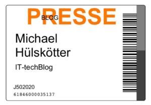 Cebit Presseausweis