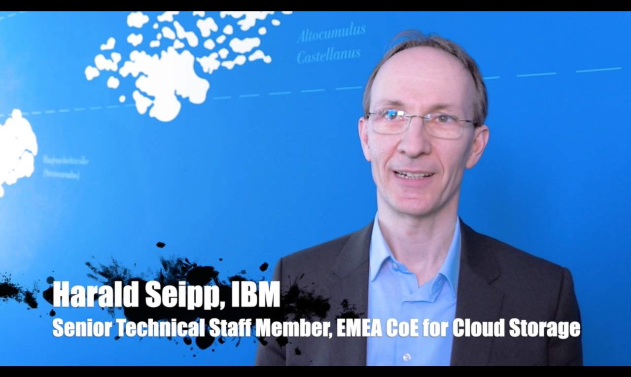 Harald Seipp, IBM, über IBM Spectrum Scale, Container & Cloud