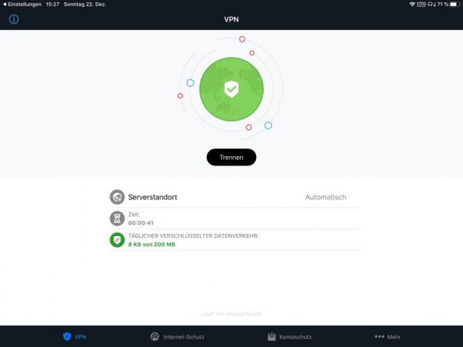 Vierter Schritt - Bitfender Small Office Security erkennt den Bitdefender-Server automatisch