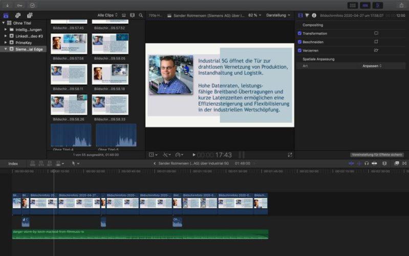 Mit Final Cut Pro schneide ich am Mac meine Videos