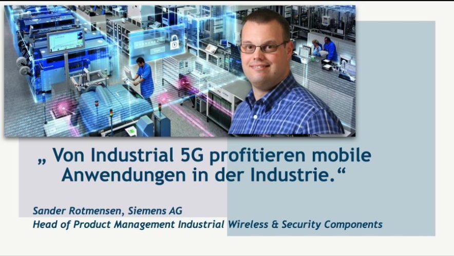 [Videoblog] Sander Rotmensen (Siemens AG) über Industrial 5G 1