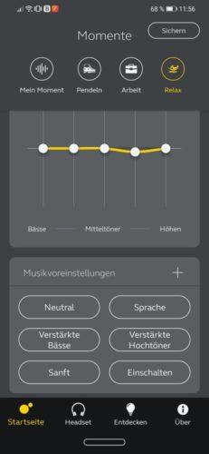 Jabra Evolve2 85 mithilfe der App Sound+ optimal nurzen - Equalizer