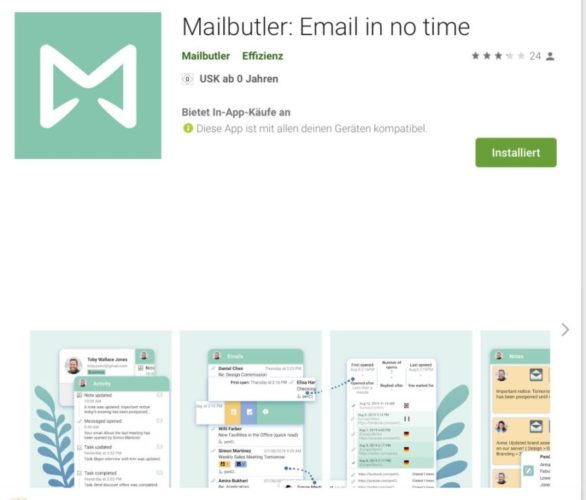 Lieblingsfeature 5 - Mailbutler auch für unterwegs