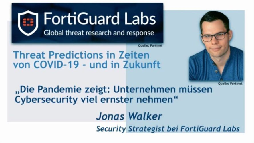 Videocast mit Jonas Walker zu Cyber-Bedrohungen in Zeite von Corona