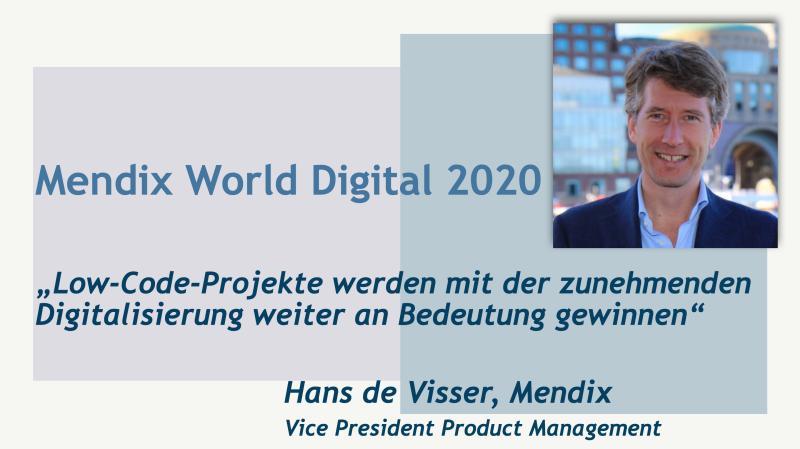 Hans de Visser (Mendix) über die Mendix World 2020