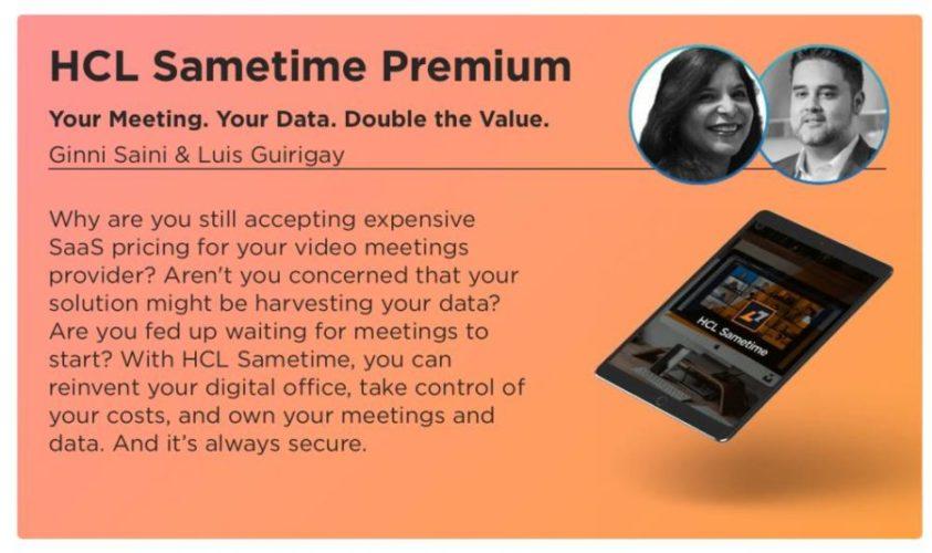 HCL Digital Week 2020 - Launch von HCL Sametime Premium