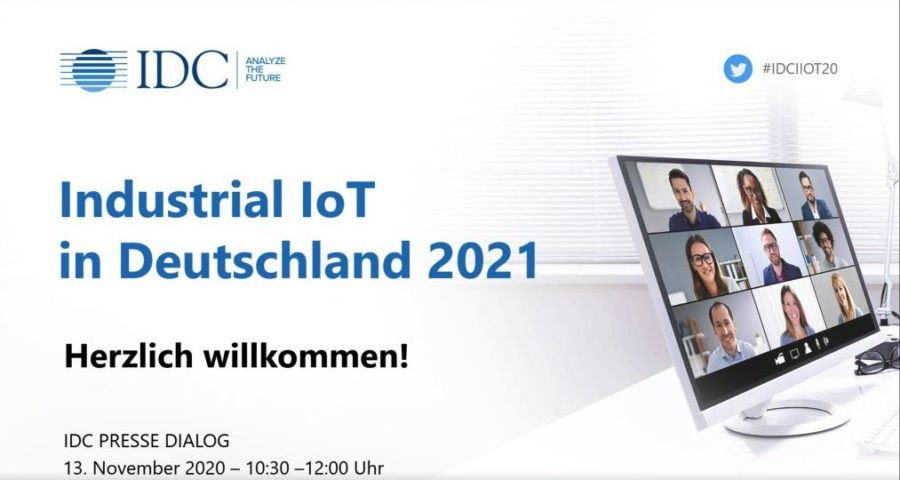 virtueller IDC-Pressetreff zum Thema industrielles Internet of Things (IIoT)