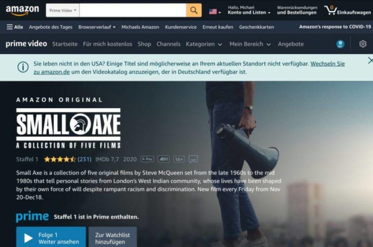 Amazon US-Inhalte auf dem iPad mithilfe von Surfshark