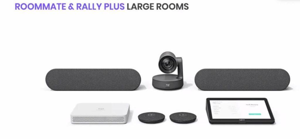 Logitech Roommate und Rally Plus für große Meetingräume