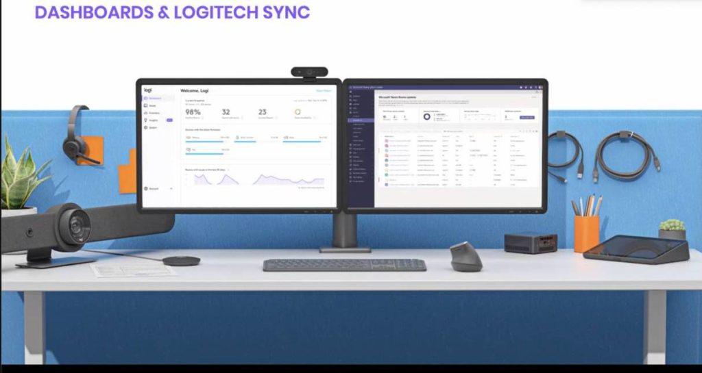 Mit Logitech Sync lassen sich die Videokonferenz-Systeme überwachen und verwalten