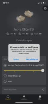 Jabra-App Sound+ Firmware-Update