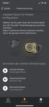 Jabra-App Sound+ Tastenbelegung anpassen
