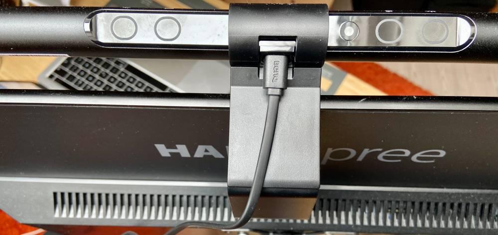 BenQ ScreenBar LED-Monitorlampe von oben