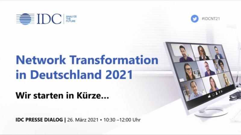 IDC-Studie zur Netzwerk-Transformation in Deutschland 2021