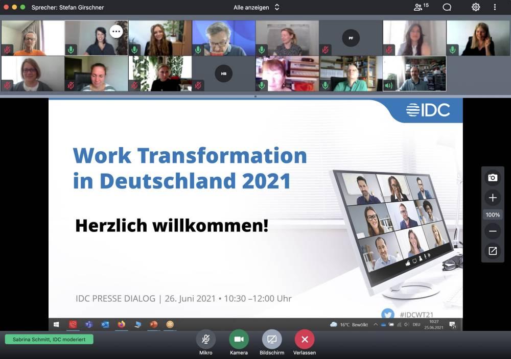 IDC-Studie zu Work Transformation in D
