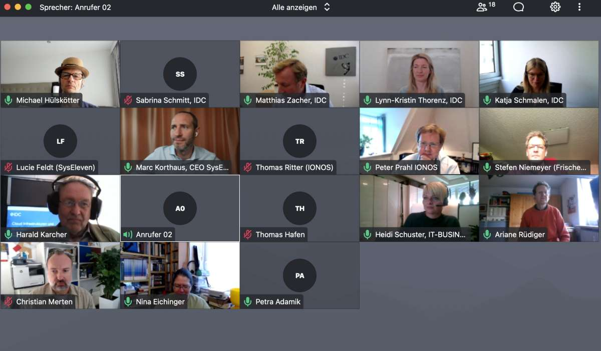 IDC-Pressetalk zum Thema Cloud Computing in Deutschlang