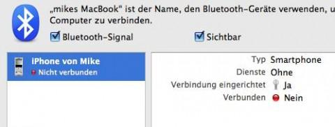 Leider kein echtes Bluetooth mit dem iPhone