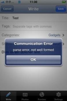 Fehlerhaft bis nicht einsetzbar: WordPress für das iPhone