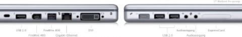 Alle Schnittstellen an Bord: Macbook Pro