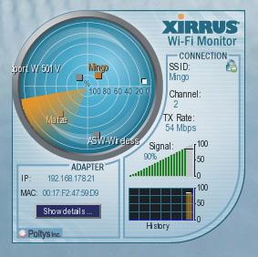 Mit Wifi-Monitor von Xirrus hat man die WLAN-Umgebung ständig im Blick